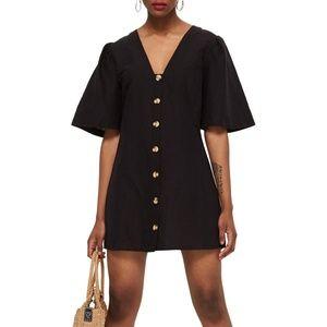 TOPSHOP Angel Sleeve Linen Shift Dress